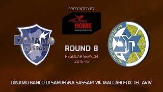 Highlights: Dinamo Banco Di Sardegna Sassari - Maccabi Fox Tel Aviv