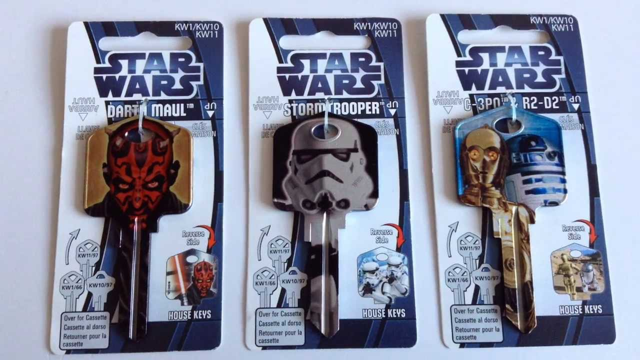 STAR WARS - DOOR KEYS - DARTH MAUL, STORMTROOPER, C-3PO & R2-D2