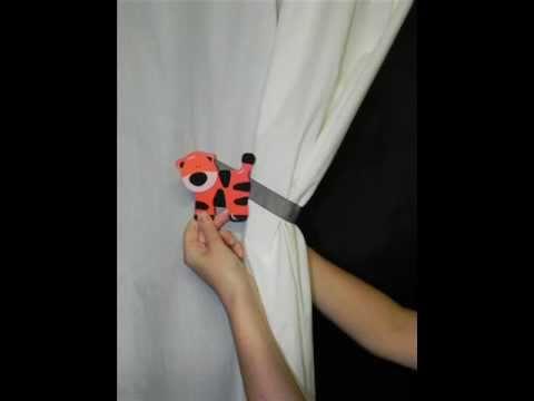 SwagMagsTM Tutorial How To Use Magnetic Curtain Tiebacks Drape Holdbacks MADE IN THE USA