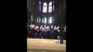 Fettes College Choir Tour 2015 - Panis Angelicus at Notre Dame Cathedral
