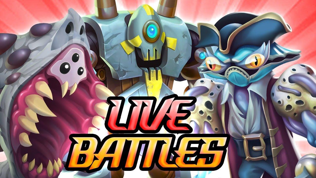 BATALLAS AMISTOSAS en DIRECTO! - Monster Legends