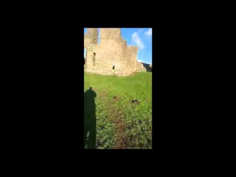 Newcastle Emlyn Castle RUINS with DAVE.. LarryExplores