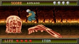 Splatterhouse 1 Arcade Gameplay Playthrough longplay