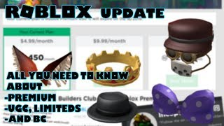 Roblox Update All you need to Know About Premium, UGC, Limiteds and Builders Club
