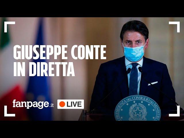 Coronavirus, dpcm Natale: il presidente Giuseppe Conte in diretta