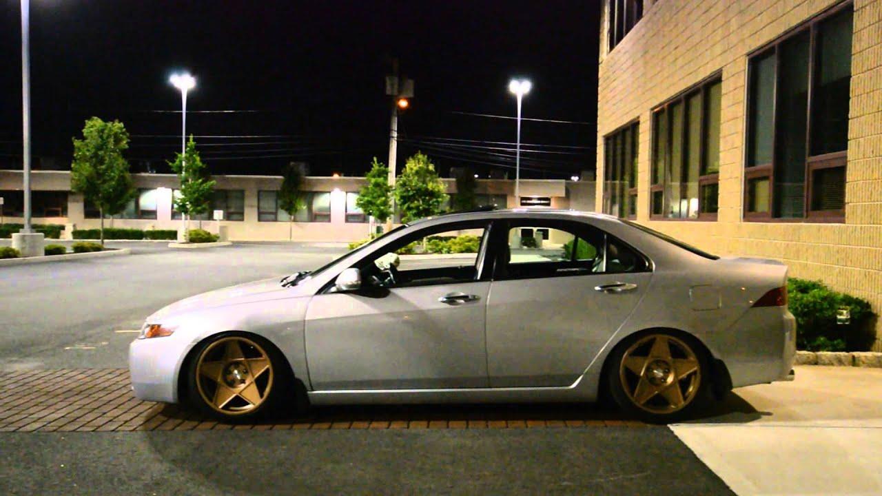 Rafaels Lowered TSX YouTube - Acura tsx lowering springs
