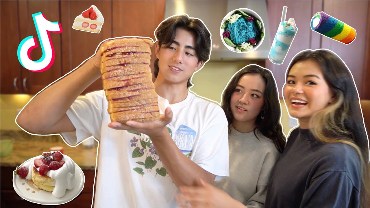 TRYING VIRAL TIKTOK RECIPES WITH MY SIBLINGS 🌭 (PART 2)