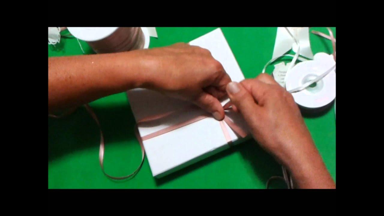 Conosciuto Tutorial Come confezionare bomboniere chiusura a croce.wmv - YouTube FI84
