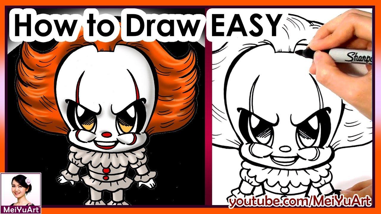 Draw Chibi Pennywise Easy | How to Draw | MeiYuArt - YouTube