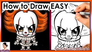 Draw Chibi Pennywise Easy | How to Draw | MeiYuArt