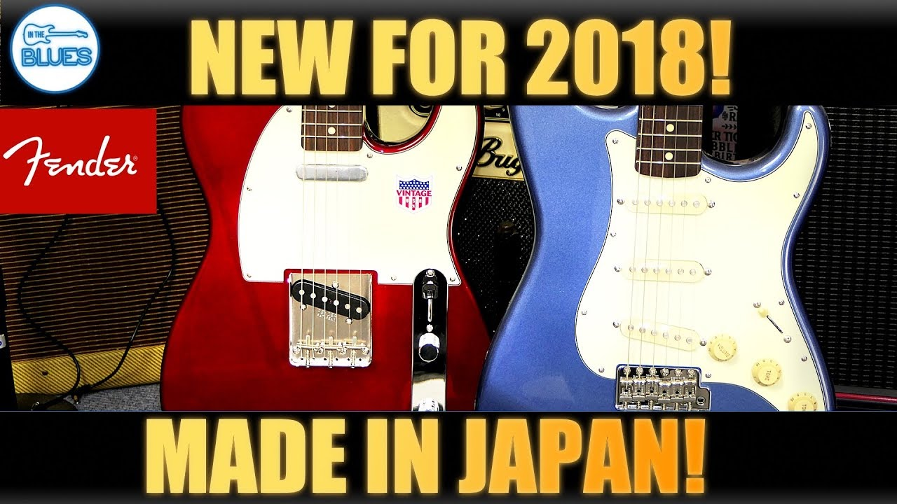 f6d0d82f7987 2018 Fender Japan 60's Strats & Teles **NEW** - YouTube