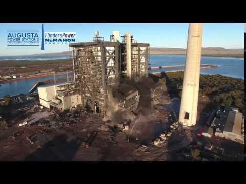 Port Augusta Power Station - Tower G Felling
