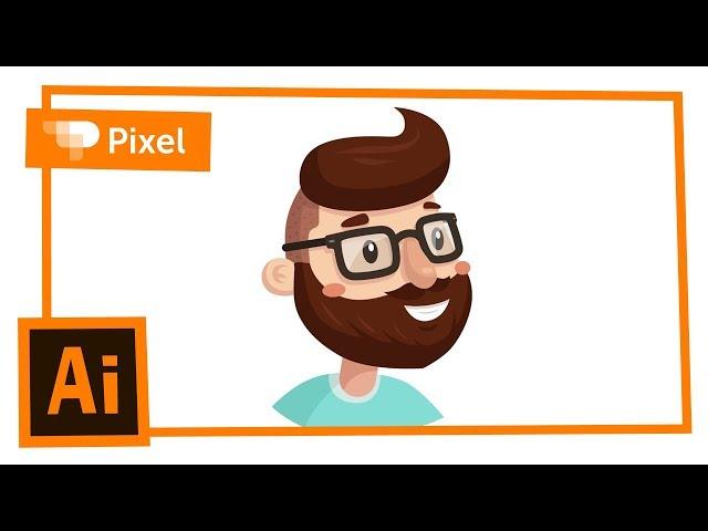 Рисуем хипстера в Adobe Illustrator | уроки для новичков