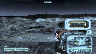 Fallout New Vegas: Deathclaw vs Laser rifle