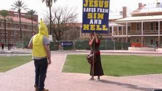 Banana Man vs Jesus Freaks - University of Arizona