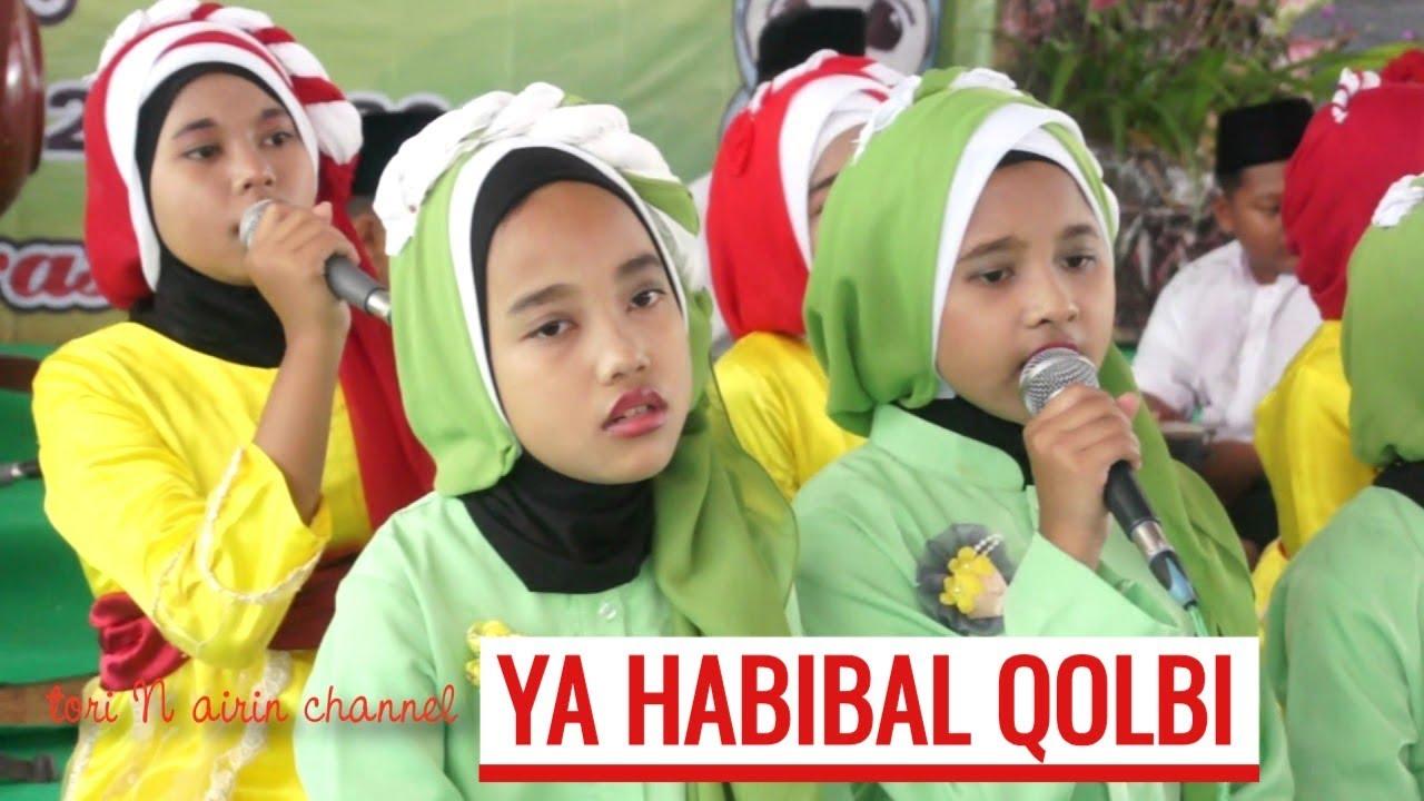 qosidah ya habibal qolbi sabyan cover rebana sdit an nisa - musik