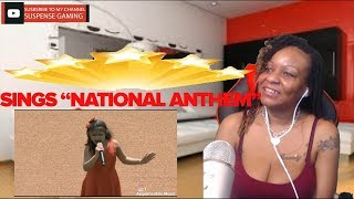 Angelica Hale Singing  NATIONAL ANTHEM  Braves Game Opening REACTION