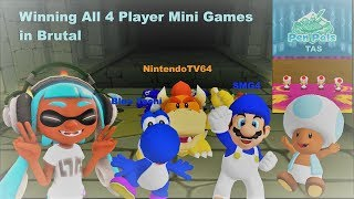 Mario Party DS - Pen Pals [TAS] And Mario Party 6 - Winning All 4 Player Minigames on Brutal
