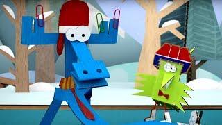 Бумажки -  Зимний цвет - Серия 64 - мультфильмы для детей и взрослых. Творчество с детьми