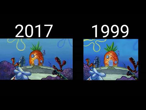 Spongebob Squarepants Intro Comparison (2017-1999)