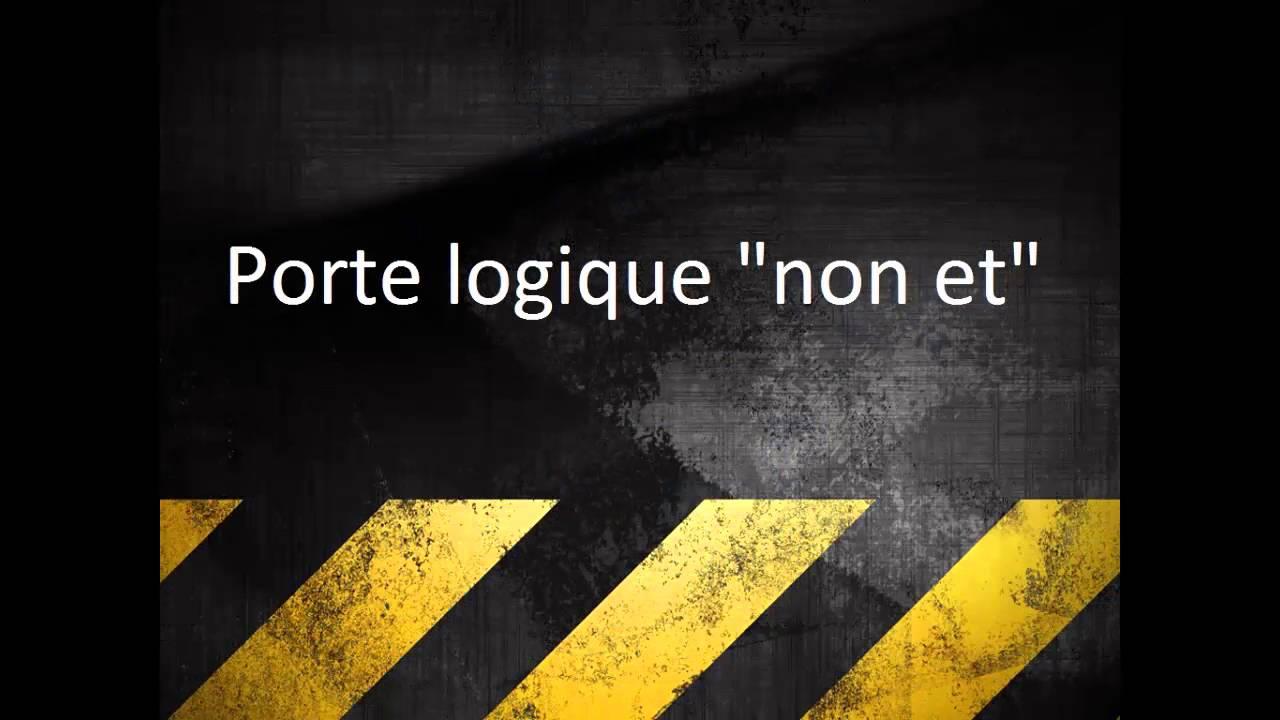 Projet sur le montage des portes logiques et ou non for Porte logique non et