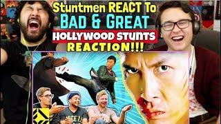 STUNTMEN React to Bad & Great Hollywood STUNTS 8 - REACTION!!!