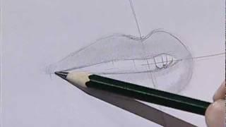 How to draw a female mouth 1/ Cómo dibujar una boca femenina 1.