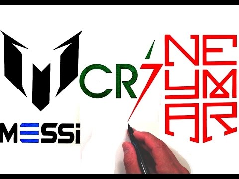 drawing all 3 logos of ronaldo messi and neymar jr youtube