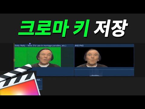 [파이널컷프로] 그린 스크린 영상 배경없이 저장하는 법 (크로마키)