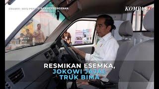 Jokowi Jajal Mobil Esemka Bima Saat Peresmian