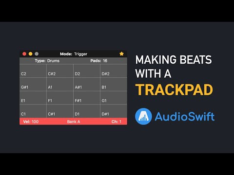 Making Beats With A Trackpad - AudioSwift