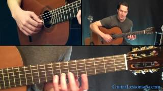 Classical Gas Guitar Lesson - Mason Williams - Part Two