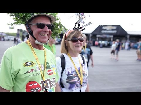 Experience the excitement as fans flock to Charlotte Motor Speedway