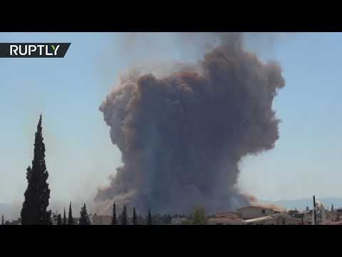 Multiple explosions at Syrian military base near Hama