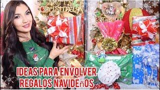 5 Ideas para envolver regalos Navideños//Como empacar regalos 🎁🎄