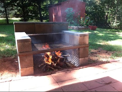 Build Your Own Backyard Cinder Block Grill: easy