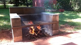 Build Your Own Backyard Concrete Block Grill: easy