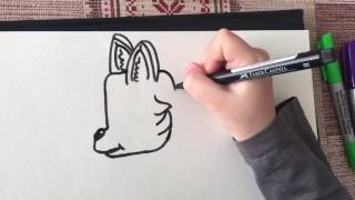Ave Rox Stories: How to draw a puppy dog (German shepherd :)