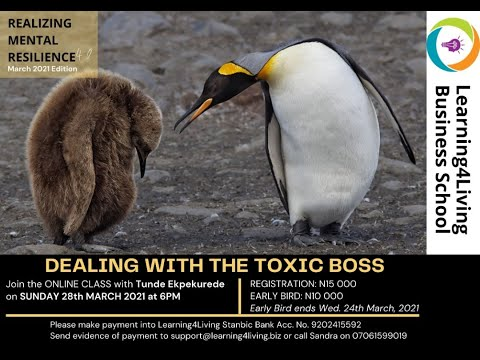 How to deal with the Toxic Boss!