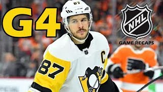 Pittsburgh Penguins vs Philadelphia Flyers. 2018 NHL Playoffs. Round 1. Game 4. 04.18.2018. (HD)