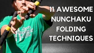11 Awesome Nunchaku Folding Techniques in SLOW MOTION