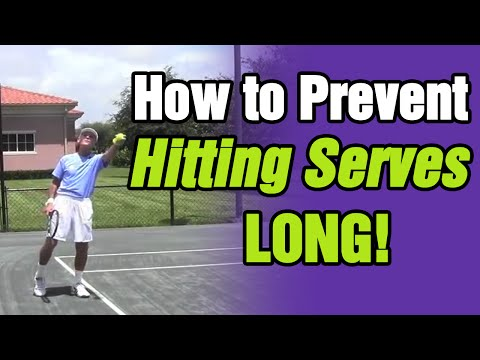 How To Prevent Hitting Serves Long - Tennis Lesson With Tom Avery