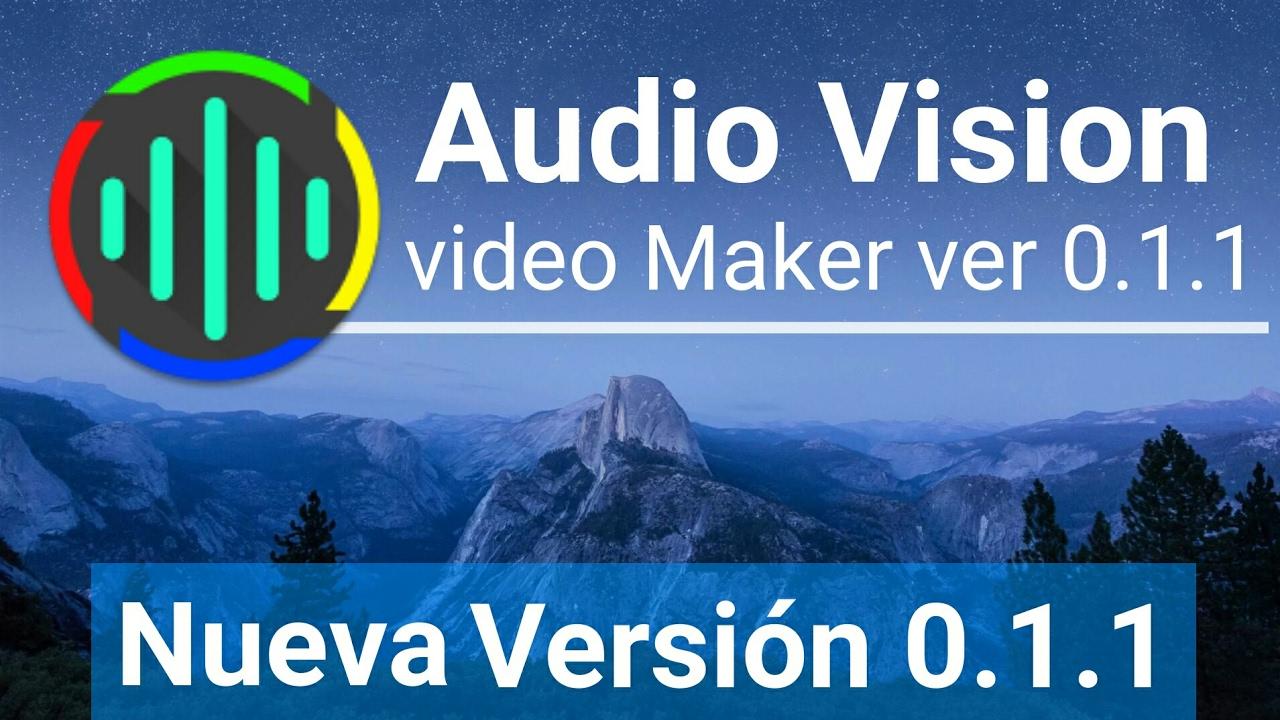 Descarga AudioVision for Video Makers v0 1 1 // Nueva Versión // APK  !!!!