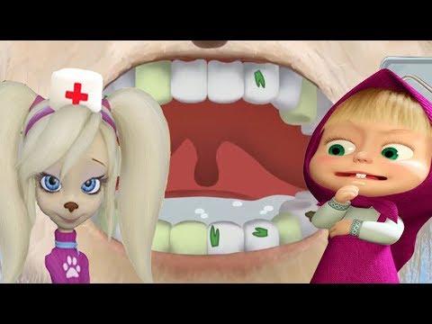 Маша и Медведь Маша Стоматолог Лечит Зубки Мишке Роза Барбоскины Лечит Зубки Дедушке Кто Лучше