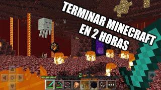 Reto: Terminar minecraft en 2 horas