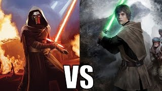 Kylo Ren vs Luke Skywalker (Canon)
