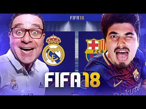 FIFA 18 GAMEPLAY | RIC vs PEDRO TIM | REAL MADRID vs BARCELONA