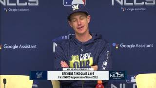 Brewers' Craig Counsell after NLCS Game 1