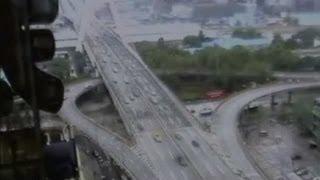 Earthquake hitting Sichuan, China, caught on camera