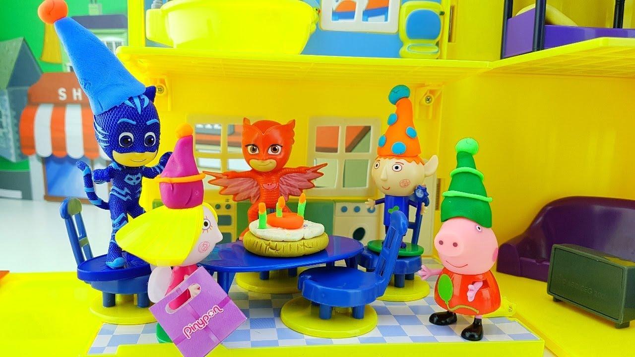 Popolare PEPPA PIG PJ MASKS SUPER PIGIAMINI BEN E HOLLY - La festa a  GN23